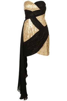 Gold and black dress. you can put straps on it?