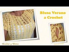 """Blusa Jersey Remera """"Mayo"""" a CROCHET (Parte 1) Fácil de tejer Tutorial Gratis por Maricita Colours - YouTube"""