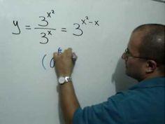 Derivada de un cociente de funciones exponenciales: Julio Rios explica cómo, antes de derivar una función, resulta más conveniente transformarla usando las propiedades de la potenciación