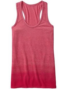 Life Force Tank - Layer your gym outfit in this soft, yummy fabric top with a graduated dot burnout print.