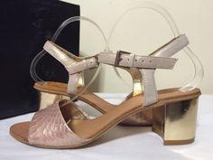 Dune London Haro Di Pink Reptile Women's Heels Sandals Size 39 / US 8 M