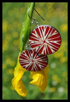 EARRINGS- HANDMADE RED STAR CORAL SHELL/ STERLING SILVER .925