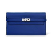 Kelly 《ケリー》 ロング 財布 ヴォー・エプソン カラー:ブルー・エレクトリック サイズ:H11.5×W20×D2cm  レザーグッズのご購入は、モデル違い、サイズ違い、カラー違いも含め、お一人様1点までとさせていただきます。複数、ご注文の場合には、キャンセルのご連絡をさせていただきますので、あらかじめご了承ください。