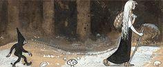 JOHN BAUER, fairy tale illustration circa 1907 // vintage, story