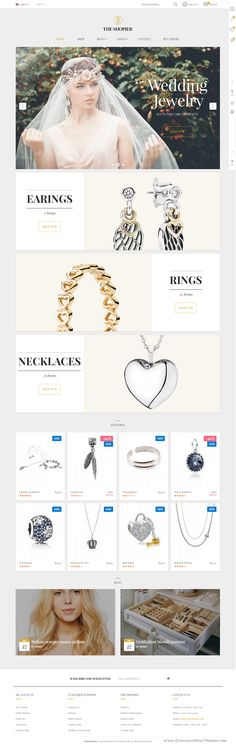 The Shopier is a highly customizable responsive and parallax WooCommerce WordPress theme for multipurpose eCommerce #website. Demo #jewelry http://ecommerce.jrstudioweb.com/