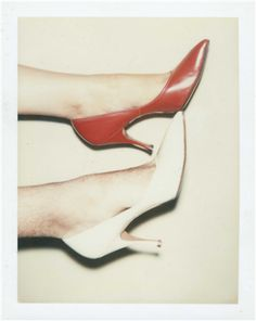 ANDY WARHOL (1928-1987) Shoes two unique polaroid prints each: 4¼ x 3 3/8 in. (10.8 x 8.6 cm.) Executed in 1977.