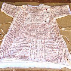 An art journal dress!!!!! Totally love it! by Ruthraestudio