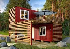 Storage Container Homes Cabins Ideas For 2019 Building A Container Home, Container Buildings, Container Architecture, Sustainable Architecture, Residential Architecture, Contemporary Architecture, Container Shop, Storage Container Homes, Container Design