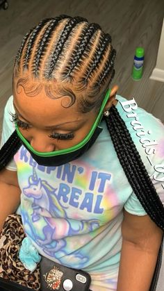 Braided Hairstyles For Black Women Cornrows, Feed In Braids Hairstyles, Braids Hairstyles Pictures, Baddie Hairstyles, Braids For Black Hair, Hair Pictures, Protective Hairstyles, Protective Styles, Hair Ponytail Styles