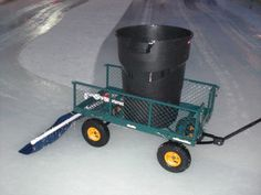 Home made Zamboni for the backyard Outdoor Hockey Rink, Backyard Hockey Rink, Rink Hockey, Backyard Ice Rink, Hockey Room, Skating Rink, Figure Skating, Winter Fun, Winter Sports