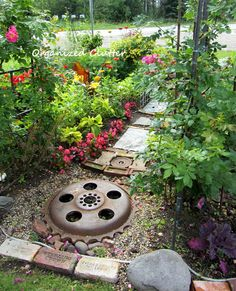 Cool garden path
