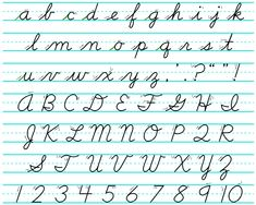 A to Z Cursive Letters | View Lowercase and Uppercase Cursive ...