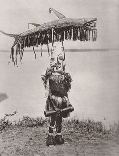 F E Williams. A masked dancer from the Elema people of Papua - National Geographic 1938