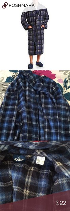 NWOT Jockey Men's Fleece Plaid Bathrobe Tags taken off but never worn! Warm and comfortable plaid bathrobe! Fleece! Make it yours! Jockey Other