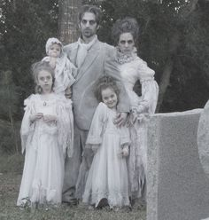 Victorian Ghost Family