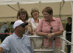 Debbie Webb, Sandy Punch and Suzanne Close charming the crew, Nashville, September 2010