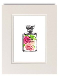 Chanel No 5 Vintage Style Art Print by LadyGatsbyLuxePaper on Etsy, $10.00