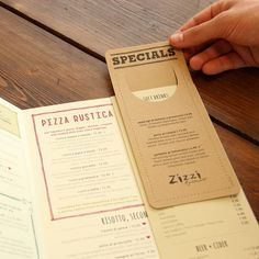 Neat idea for specials or callouts. Zizzi