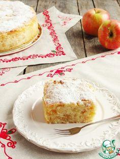 Сочный яблочно-манный пирог - кулинарный рецепт