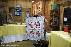 Yankee doodle quilt.