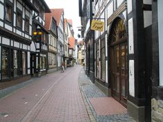 """Hameln, Deutschland.  The town of the pied piper.  Note the """"rats"""" on the cobblestones."""