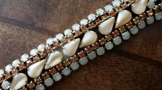 Moon Glow and Amber Rhinestone Vintage by BlingAndBlueJeans