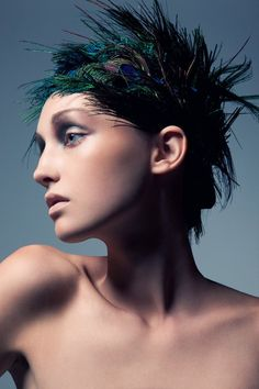 Birds of Paradise: Brittany Hollis by Jeff Tse | Hair And Feather Design By CASH Lawless | Make-up by Kouta .... {2 of 5}
