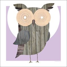 TIMBERRR! wooden owl print by Standard Design. $18 #wood