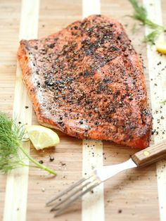 Is it dinner time yet? Grill up this salmon filet with cucumber dill sauce tonight for a delicious meal