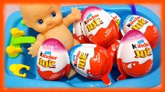 Baby Doll Bath Time in Kinder Joy Surprise Eggs ♥ Toys World Video Kinder Joy Surprise Eggs, Watch Video, Bath Time, Baby Dolls, Channel, Candy, Toys, World, Videos