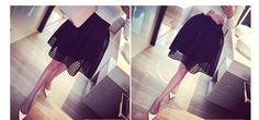 2015 summer new style sexy fashion skirt womens striped hollow out fluffy skirt swing skirt ladies Black/White Ball Gown-in Skirts from Women's Clothing & Accessories on Aliexpress.com | Alibaba Group
