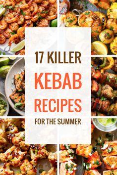 17 Killer Kebab Recipes for the Summer – Parade Kabob Recipes, Grilling Recipes, Beef Recipes, Chicken Recipes, Cooking Recipes, Barbecue Recipes, Drink Recipes, Healthy Holiday Recipes, Summer Recipes