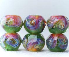 Boro - green, amber, yellow, pink, blue,  purple.
