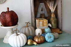 Love this change up! Chalk Paint Pumpkins