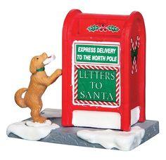 2016 LEMAX VILLAGE CHRISTMAS COLLECTION SANTA'S MAILBOX DOG PUPPY #64073 *NEW*