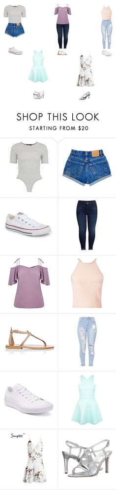 """""""My Style"""" by explorer-15036834878 on Polyvore featuring Boohoo, Converse, KUT from the Kloth, Miss Selfridge, K. Jacques, Adrianna Papell and Jimmy Choo"""