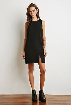 Notched-Front Shift Dress | Forever 21 - 2000183464