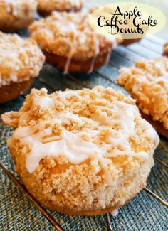 Is it breakfast or is it dessert? You can have it both ways with these sweet and tasty Apple Coffee Cake Donuts!