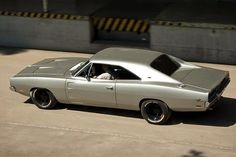 Silver 1969 Dodge Charger