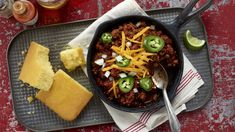 Fresh chiles render superior flavor. Coffee enriches our Cuban-influenced chili, reminiscent of that country's classic stew, picadillo.  Get the recipe.
