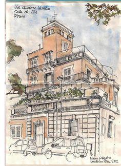 Cuaderno Roma 2012. Nano S-Beato. Via Andrea Vesalio.