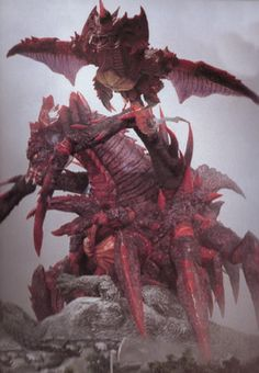 Destroyah Godzilla Enemies, Godzilla Figures, Creature Feature, King Kong, Digimon, Science Fiction, Sci Fi, Pokemon, Creatures