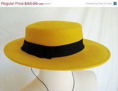 20 OFF SALE Vintage 1960s Mustard Yellow Wool by GoosEggVintage, $25.60