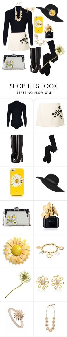 """""""Daisy girl"""" by greenrain ❤ liked on Polyvore featuring Marc Jacobs, Burberry, Kate Spade, Topshop, Dolce&Gabbana, Marc by Marc Jacobs, Tiffany & Co., Daisy Jewellery and Lulu Frost"""