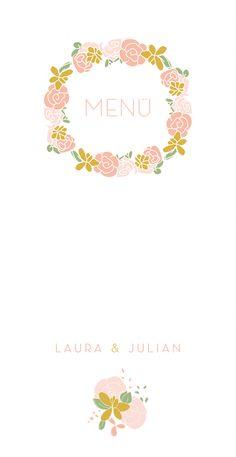 Menükarte Das Brautpaar by My Lovely Thing #klassisch #stylish