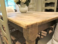 ... Furniture | Farmhouse Harvest Table | DIY Stripping Furniture