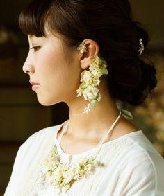 m.soeur(エムスール)のツルリーフとお花のネックレス(ネックレス)|詳細画像
