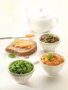 3 x tapenade Tapenade, Sauces, Pesto Sauce, Dressing Recipe, Tapas, Foodies, Good Food, Veggies, Favorite Recipes