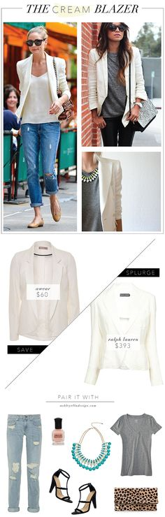 Trend Talk: The Cream Blazer; like this whole outfit below