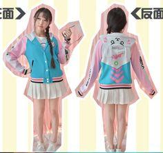Kawaii-Sweet-Lolita-Game-OVERWATCH-D-VA-Casual-Sweatshirt-Baseball-Jacket-Coat